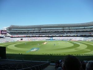 View from my seat at Eden park